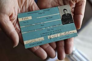 The Palace of Justice building pass of Emilio DiPalma (Charles Krupa/AP)