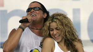 Colombian singers Shakira and Carlos Vives have been sued for plagiarism (AP)