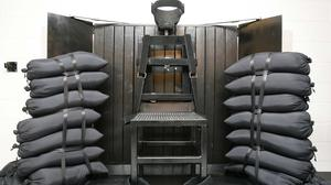 The firing squad execution chamber at Utah State Prison in Draper (AP)