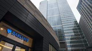 Barclays Bank's UK headquarters, in Canary Wharf (PA)