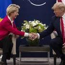 President Donald Trump meets with European Commission President Ursula von der Leyen (Evan Vucci/AP)