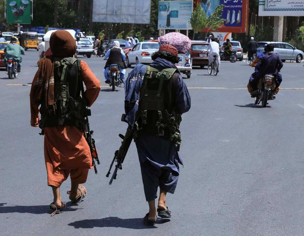 Taliban forces patrol a street in Herat, Afghanistan August 14, 2021. REUTERS/Stringer NO RESALES. NO ARCHIVES