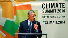 United States President Barack Obama speaks during the Climate Summit at United Nations headquarters in New York