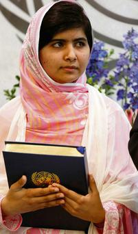 Malala Yousafzai: spoke out against the Taliban at the UN