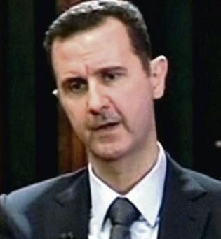 Syrian President Bashar al-Assad, who has offered to surrender his regime's chemical weapons