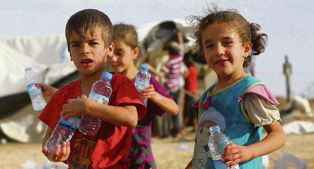 Children, who fled Mosul, at a camp in the Kurdistan region of Iraq. Reuters
