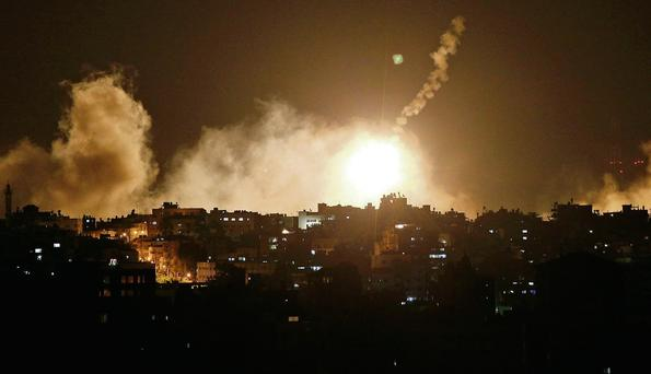 Israel launched a large-scale ground offensive in the Gaza Strip