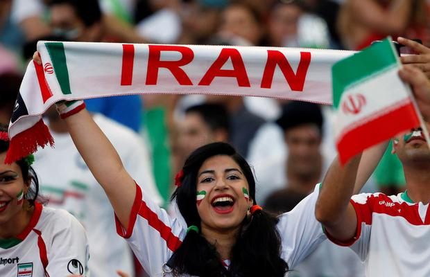 Sport and in particular football has a large following in Iran. The sex segregation rules that prevent women attending men's games at home do not apply abroad