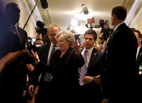 Democratic presidential hopeful Hillary Clinton outside a hearing this week of the congresional committee on Benghazi in Washington DC, where she was grilled for almost 11 hours. Photo: Reuters