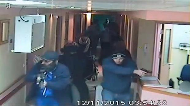 Israeli undercover forces captured on CCTV in a raid on a hospital in the West Bank city of Hebron