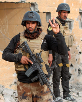Iraq's elite counter-terrorism service in central Ramadi Photo: AFP/Getty Images