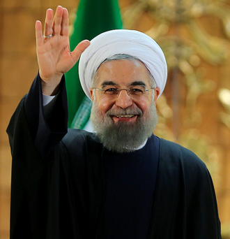 Iranian President Hassan Rouhani was triumphal at a news conference about the deal in Tehran, Iran Photo: Reuters