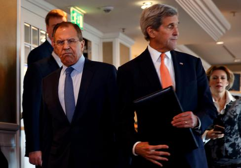Russian Foreign Minister Sergei Lavrov and US Secretary of State John Kerry Photo: Reuters