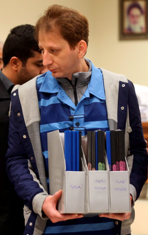 Tycoon Babak Zanjani in court in Tehran Photo: AFP/Getty Images