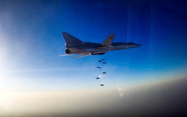 Russian Tu-22M3 bomber on a mission over Syria yesterday