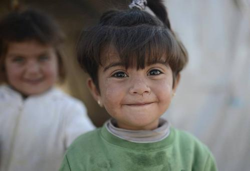 A Yazidi girl photographed by Calvin James of the Dublin-based Syria Vibes charity