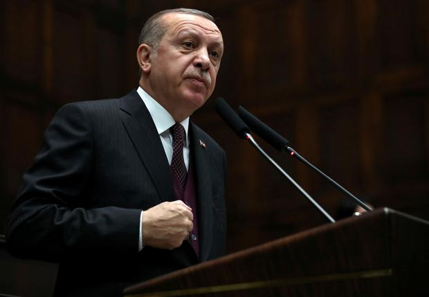 Turkish president Recep Tayyip Erdogan Photo: Reuters