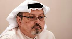 Murdered: Jamal Khashoggi was killed in the Saudi consulate last year.