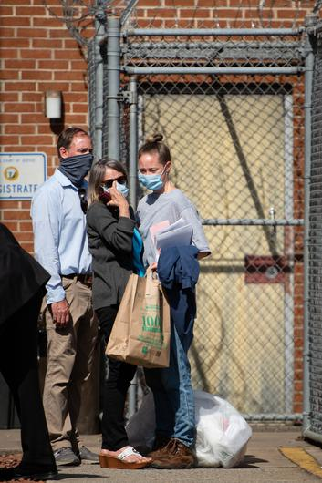 Molly Martens hugs her mother, Sharon, as she walks out of the Davidson County Courthouse in North Carolina last April.