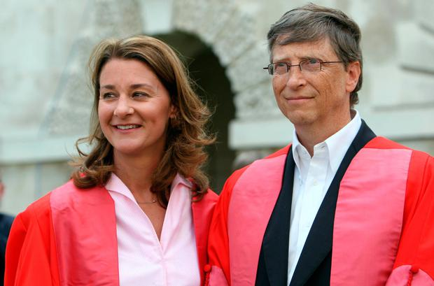 Melinda and Bill Gates met in 1987, when he was already a billionaire, and married in 1994. Photo: Chris Radburn/PA Wire