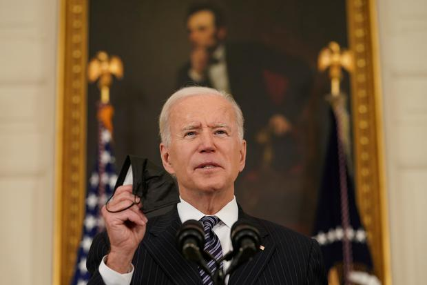US President Joe Biden says he's going to push as hard as he can 'so we can compete with the rest of the world'. Photo: Reuters