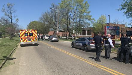 The scene of the shootings in Knoxville, Tennessee. KPD