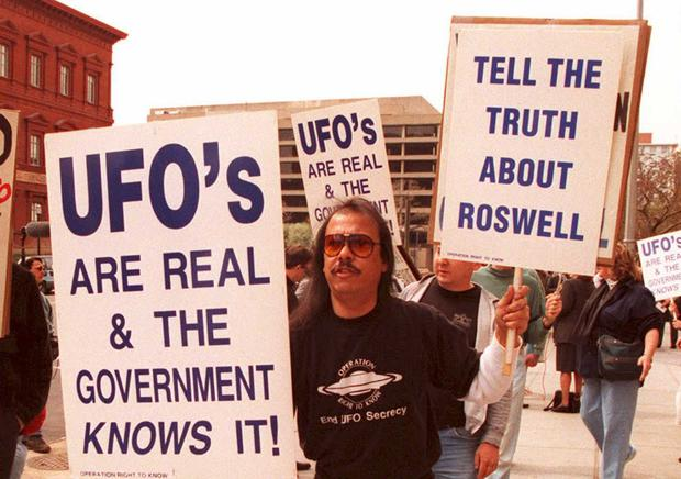 Marchers call for more details about the Roswell incident in 1947