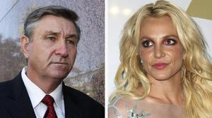 Britney Spears and her father (pictured left)