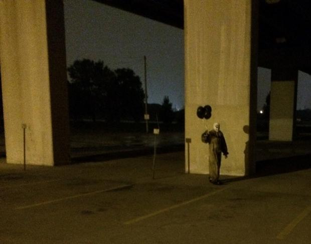 The first spotting of the clown was on August 1 Photo: Facebook
