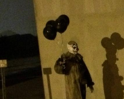 Mysterious and creepy clown spotted walking around at night. Photo: Facebook