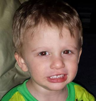 Declan McClain (3) was airlifted to hospital after falling out of an amusement ride