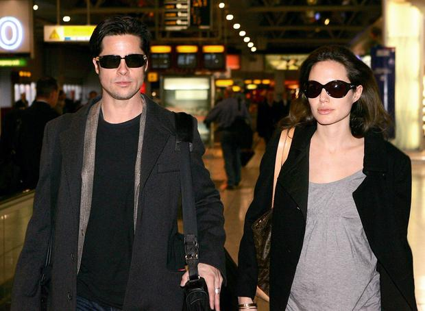 Brad Pitt and Angelina Jolie pictured at Heathrow Airport Photo: PA