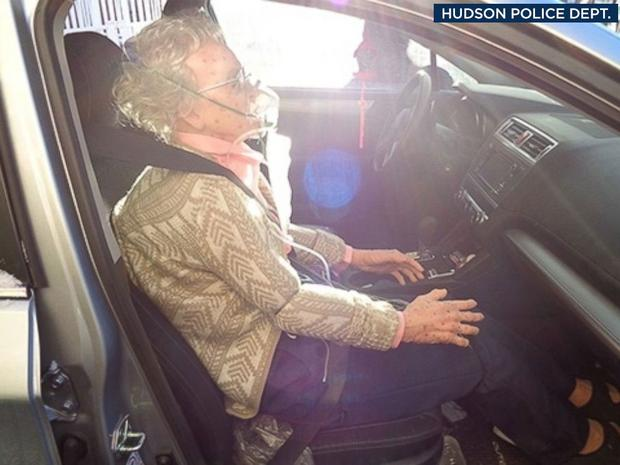 Police officers tried to rescue the woman who turned out to be a mannequin Photo: Hudson Police Department