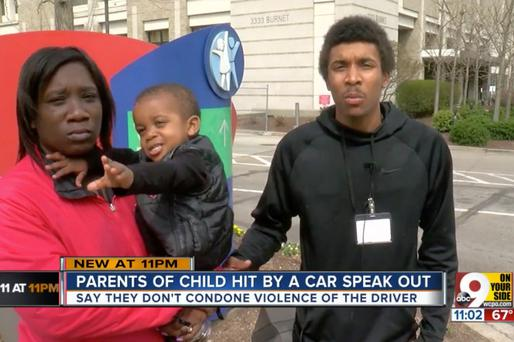 Mr Killing spoke to WCPO9 about the incident. Photo: Screengrab from WCPO