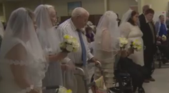 Nine couples renewed their vows