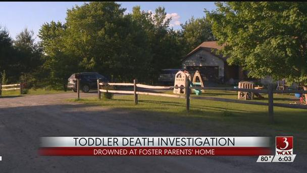 Screengrab from WCAX report showing foster home of toddler who drowned