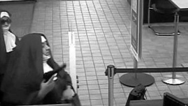 Two woman disguised themselves as nuns while attempting to rob a Pennsylvania bank. Photo: Fox 29 Philadelphia