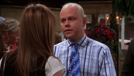 Jennifer Aniston and James Michael Tyler pictured on set