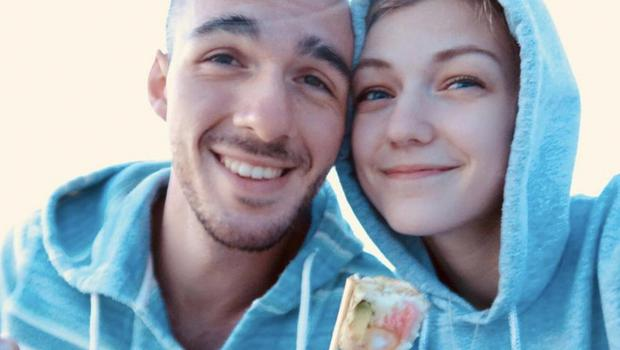 Gabrielle Petito (22) who was reported missing on September 11, 2021, after travelling with her boyfriend around the country in a van and never returned home, poses for a photo with Brian Laundrie. Reuters