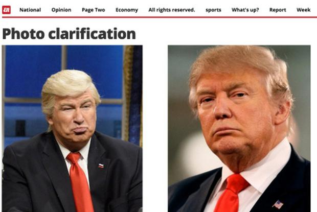 Photo clarification issued by El Nacional