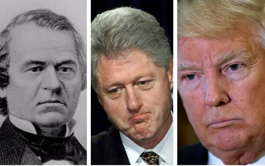 Will Donald Trump join Andrew Johnson and Bill Clinton in being impeached?