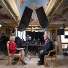 The Renoir painting was said to be behind Donald Trump during his 60 Minutes interview in November Photo: 60 MINUTES/TWITTER