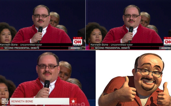 The many faces of Kenneth Bone Credit: Twitter